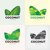 coconut concept logo or symbol