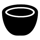 Coconut icon black color illustration flat style simple image