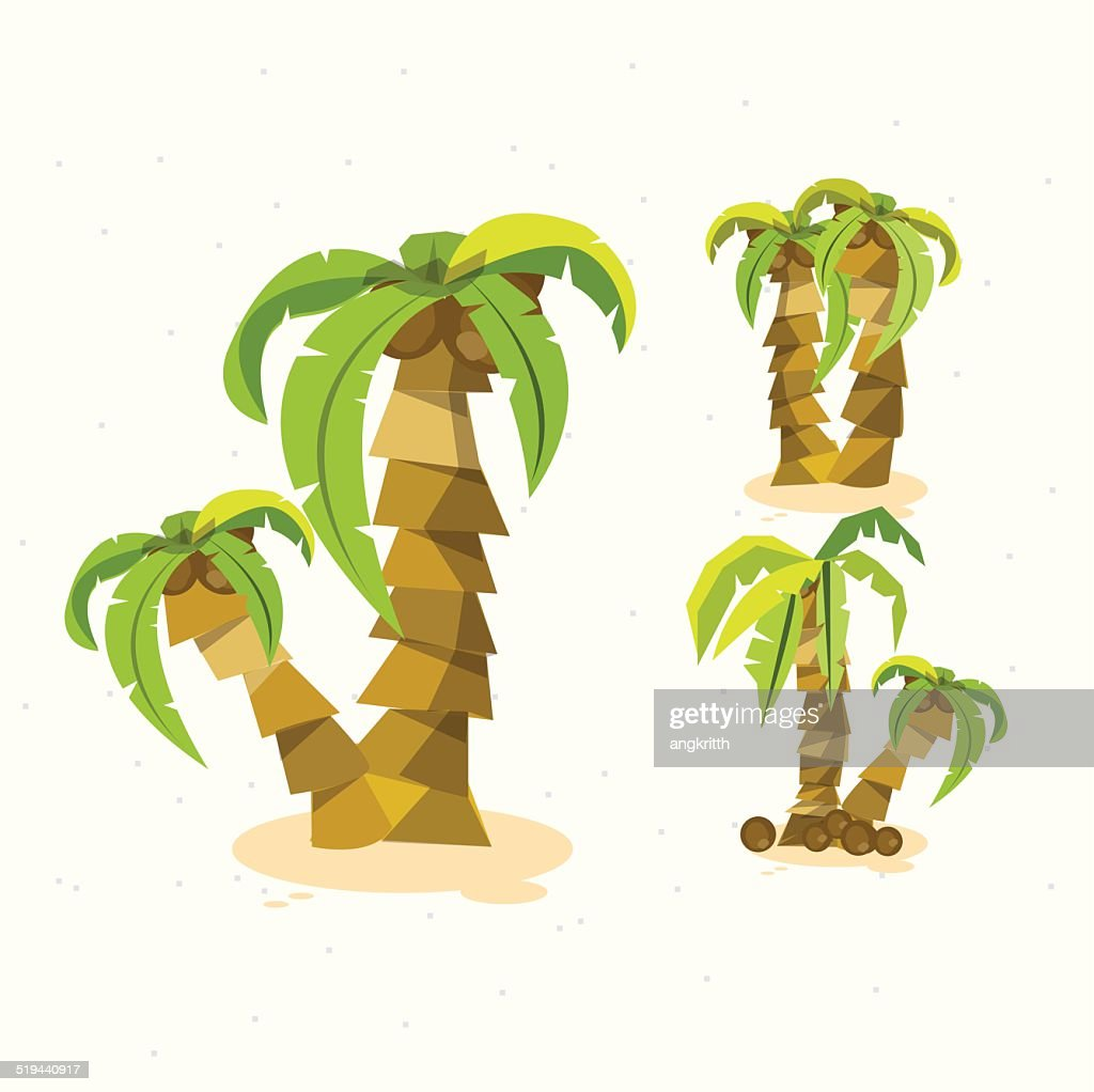 coconut trees - vector illustration
