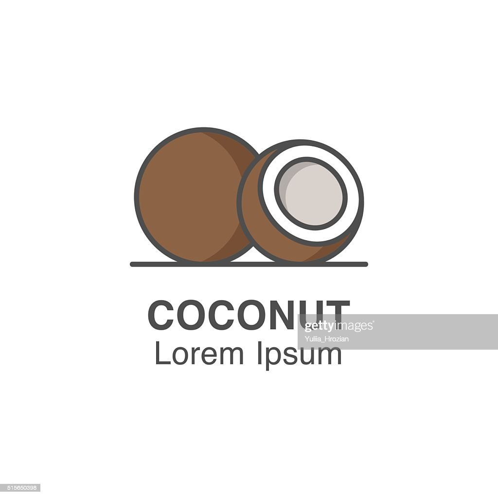 Coconut vector icon.