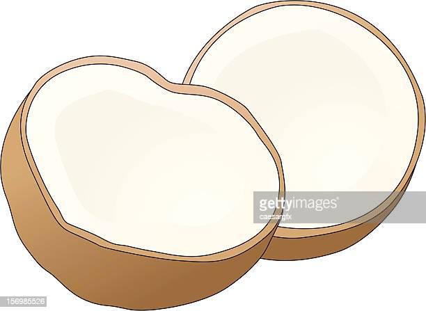 coconut - coconut milk stock illustrations, clip art, cartoons, & icons