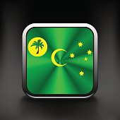 Cocos and Keeling Islands flag icon. See also vector version.