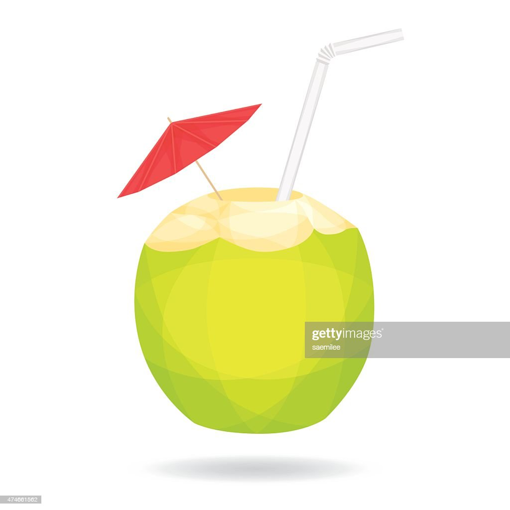 Cocout on white background : stock illustration