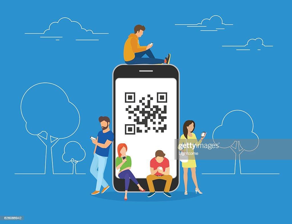 QR code concept illustration