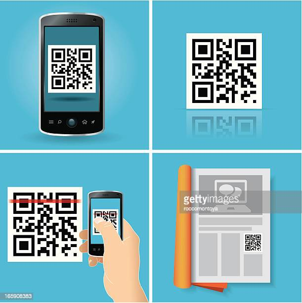 qr code concepts - security code stock illustrations