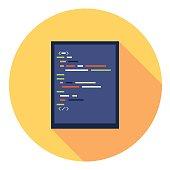 Code Editor Flat Icon