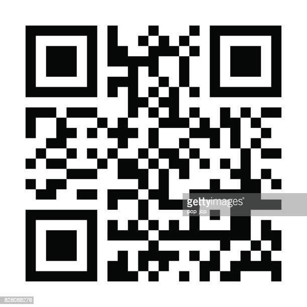 qr code - illustration - coding stock illustrations