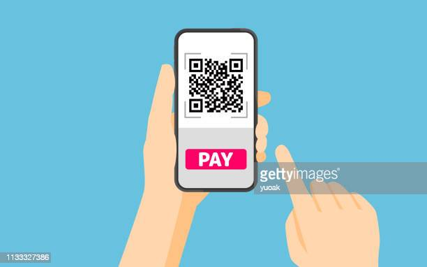 qr code payment - portability stock illustrations