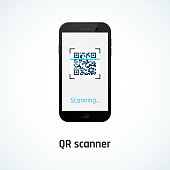 QR code scanning with a mobile phone