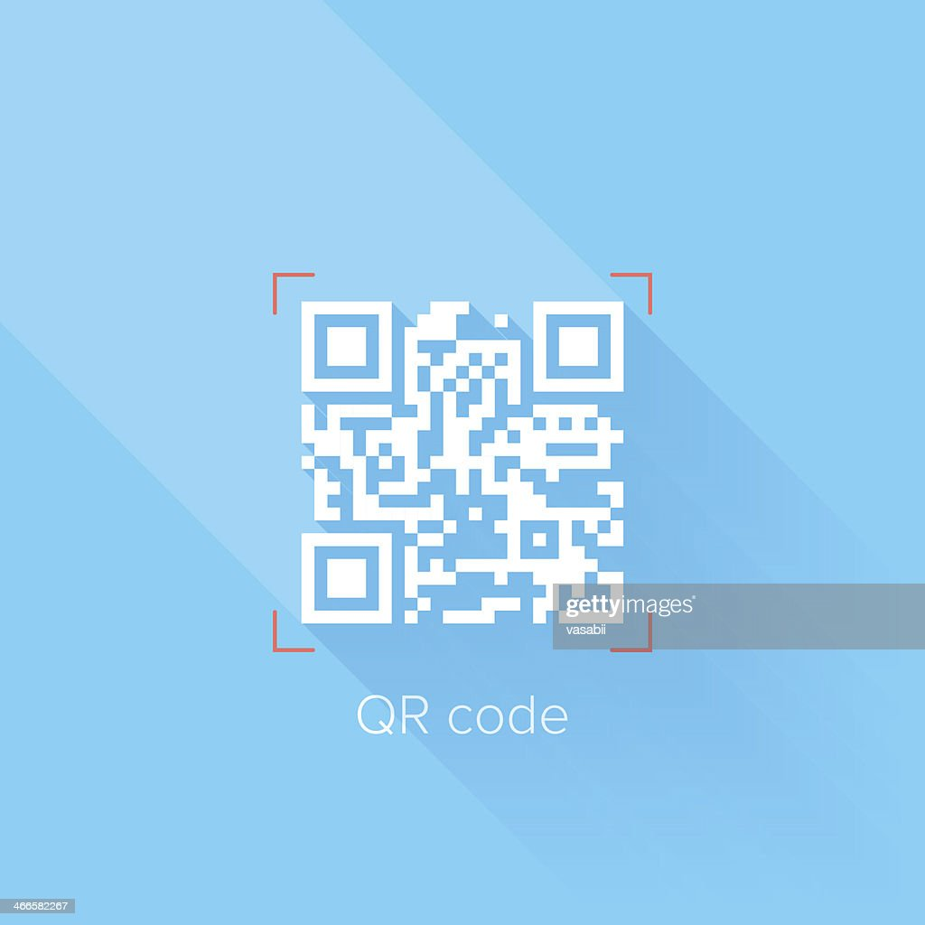 QR code with blue and white colors