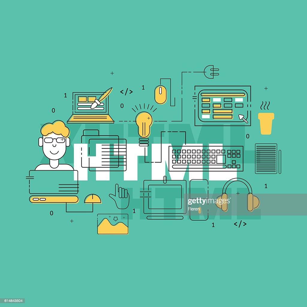 HTML coder creative banner