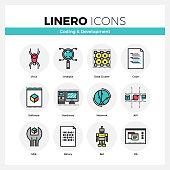 Coding and Development Linero Icons Set