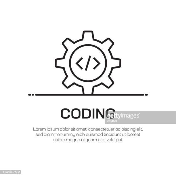 コーディングベクトル線アイコン-シンプルな細線アイコン、プレミアム品質のデザイン要素 - html点のイラスト素材/クリップアート素材/マンガ素材/アイコン素材