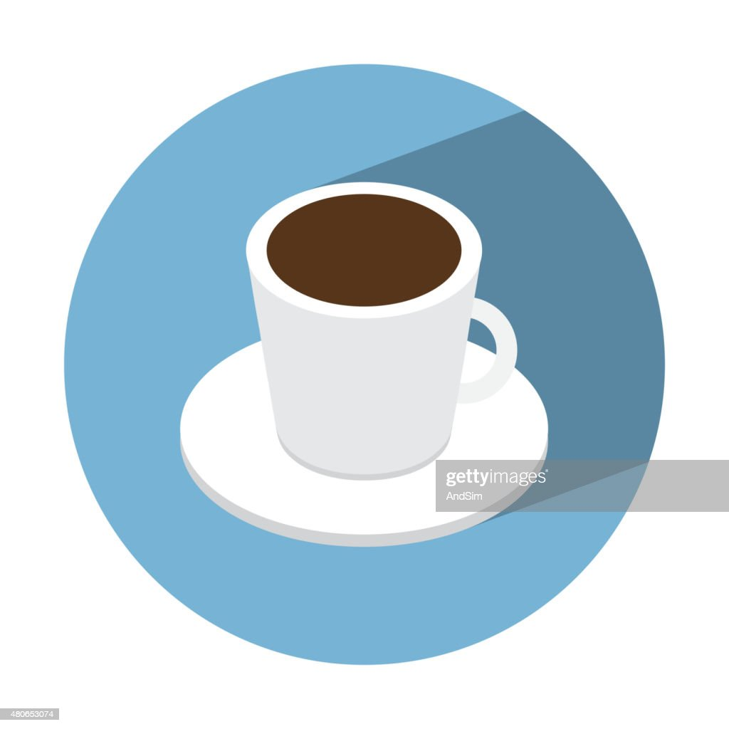 Coffe Cup Isometric Icon High Res Vector Graphic Getty Images