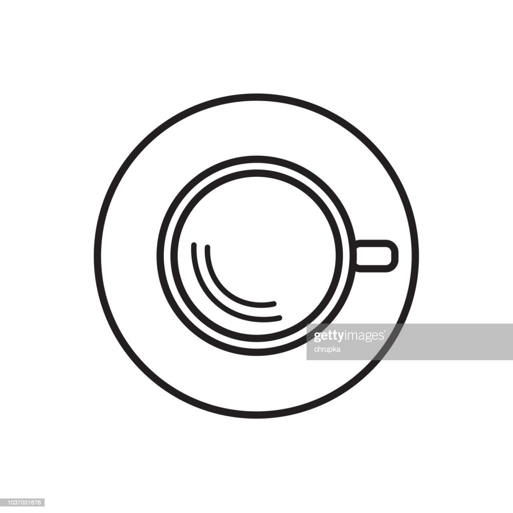 coffe cup top view