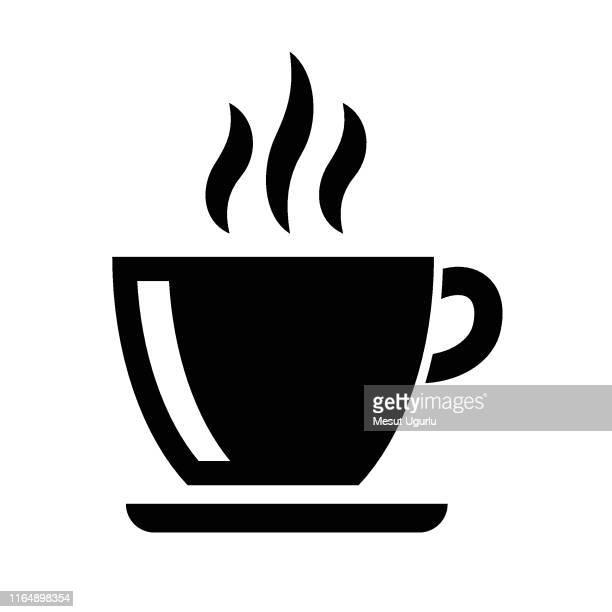 coffee americano icon - saucer stock illustrations