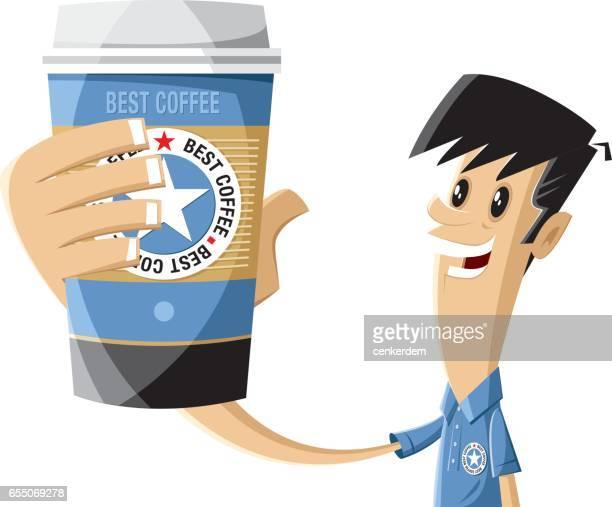 coffee and barista - caffeine stock illustrations, clip art, cartoons, & icons