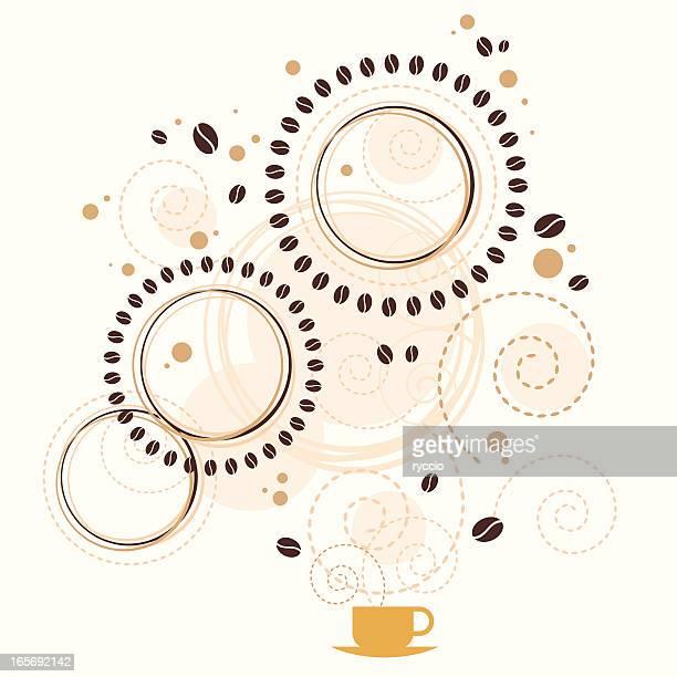 Coffee aroma graphics