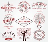 Coffee badges colored