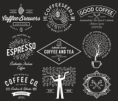 Coffee badges white