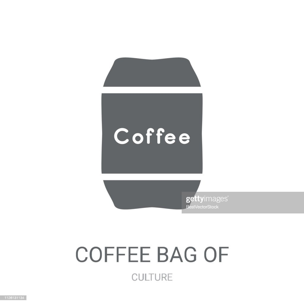 Coffee bag of Brazilian beans icon. Trendy Coffee bag of Brazilian beans logo concept on white background from Culture collection
