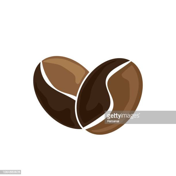 coffee bean - roasted coffee bean stock illustrations