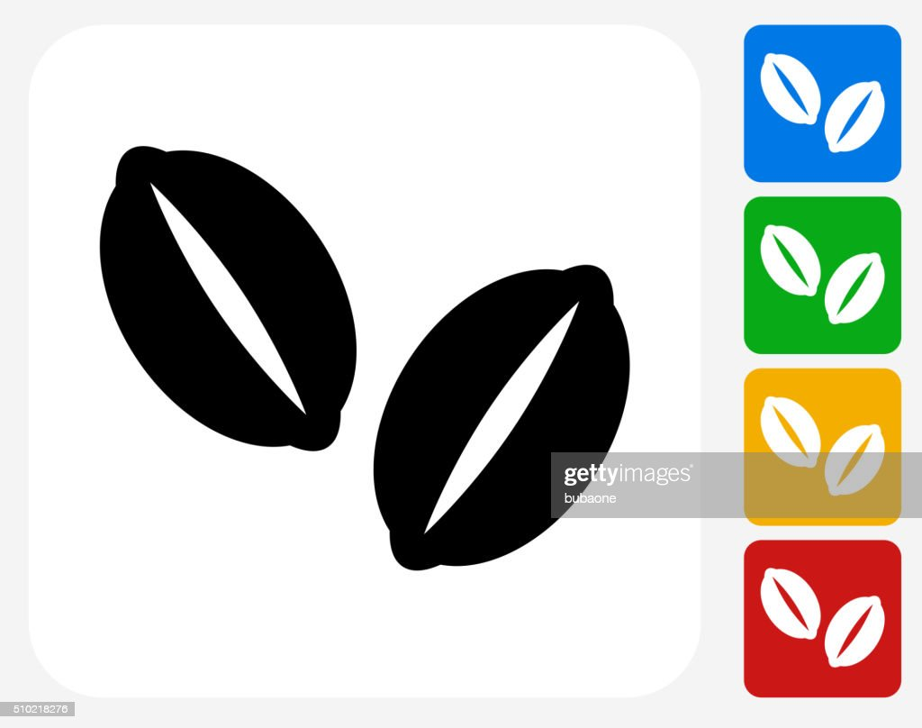Coffee Beans Icon Flat Graphic Design Vector Art Getty Images