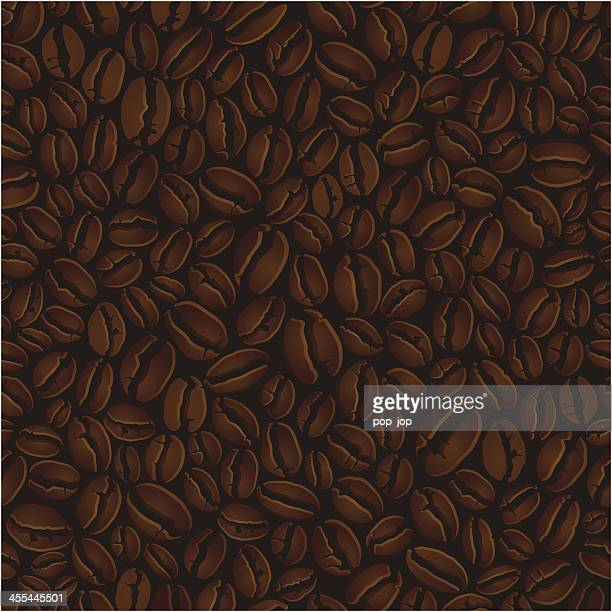 coffee beans illustration background - roasted coffee bean stock illustrations