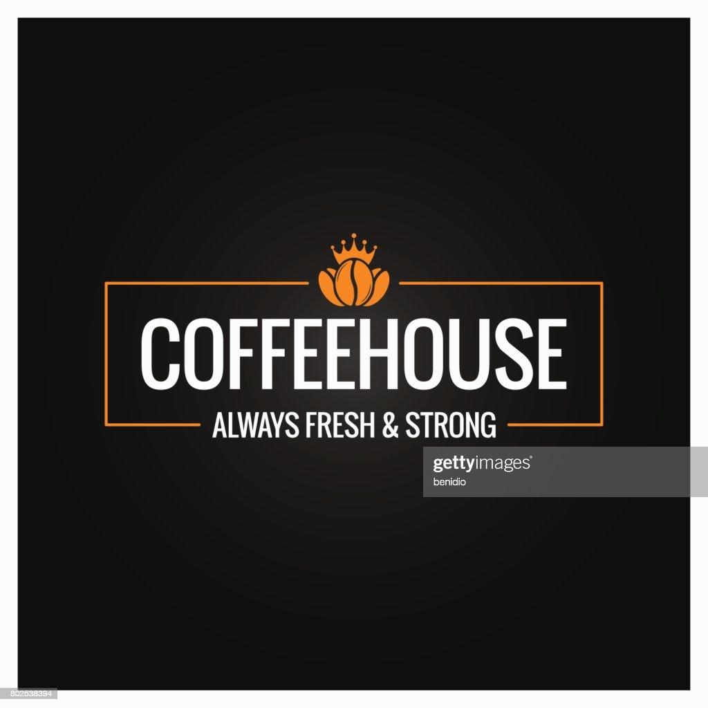 coffee beans symbol design background