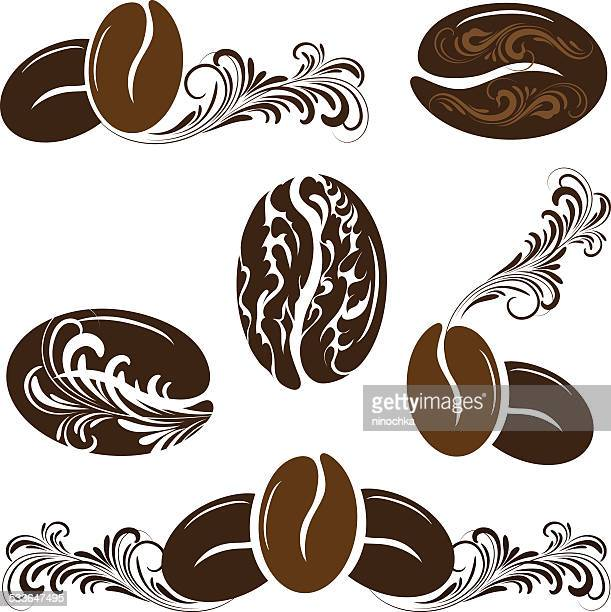 coffee beans - mocha stock illustrations