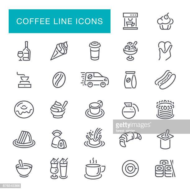 Coffee Break Line Icons