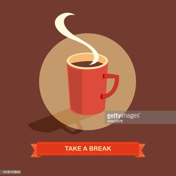 coffee break - coffee break stock illustrations
