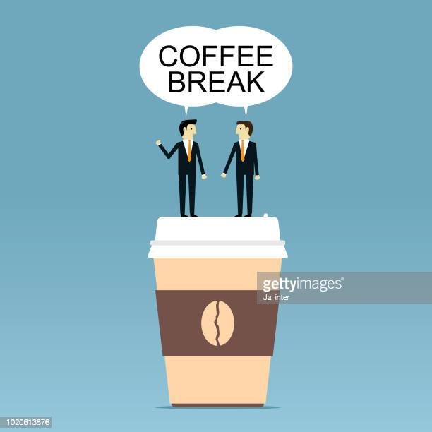 coffee break - coffee break stock illustrations, clip art, cartoons, & icons
