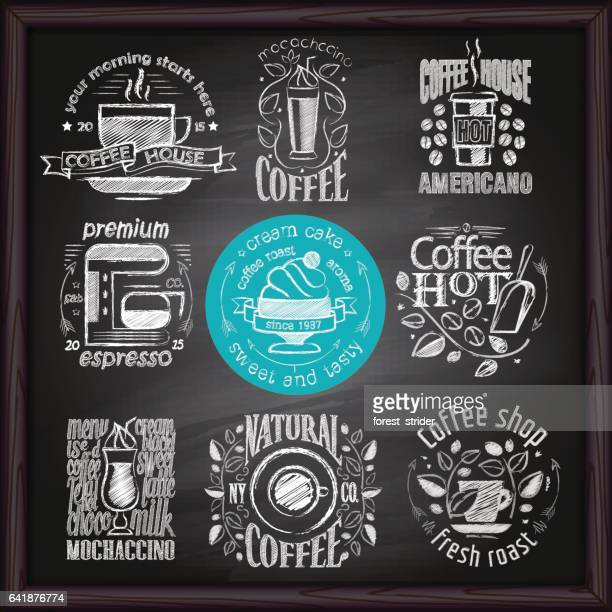 Coffee & Cafe logo on chalkboard