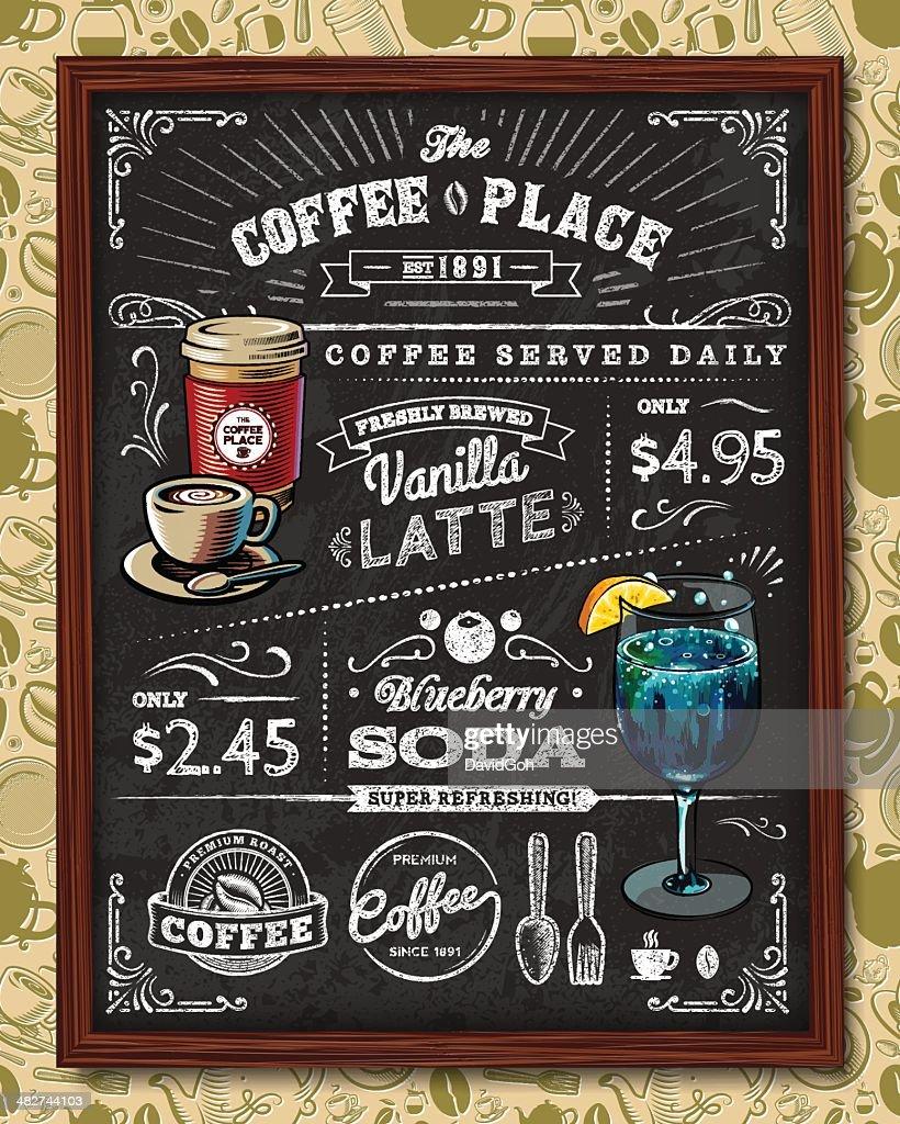 Coffee Chalkboard Elements
