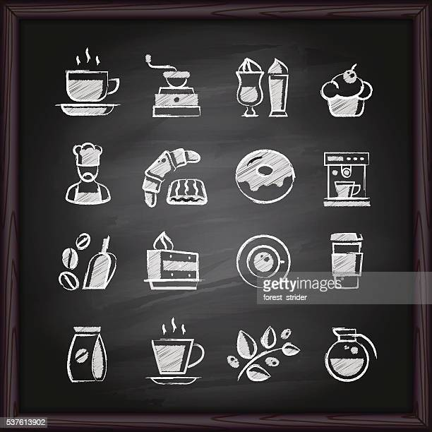 Coffee chalkboard icons