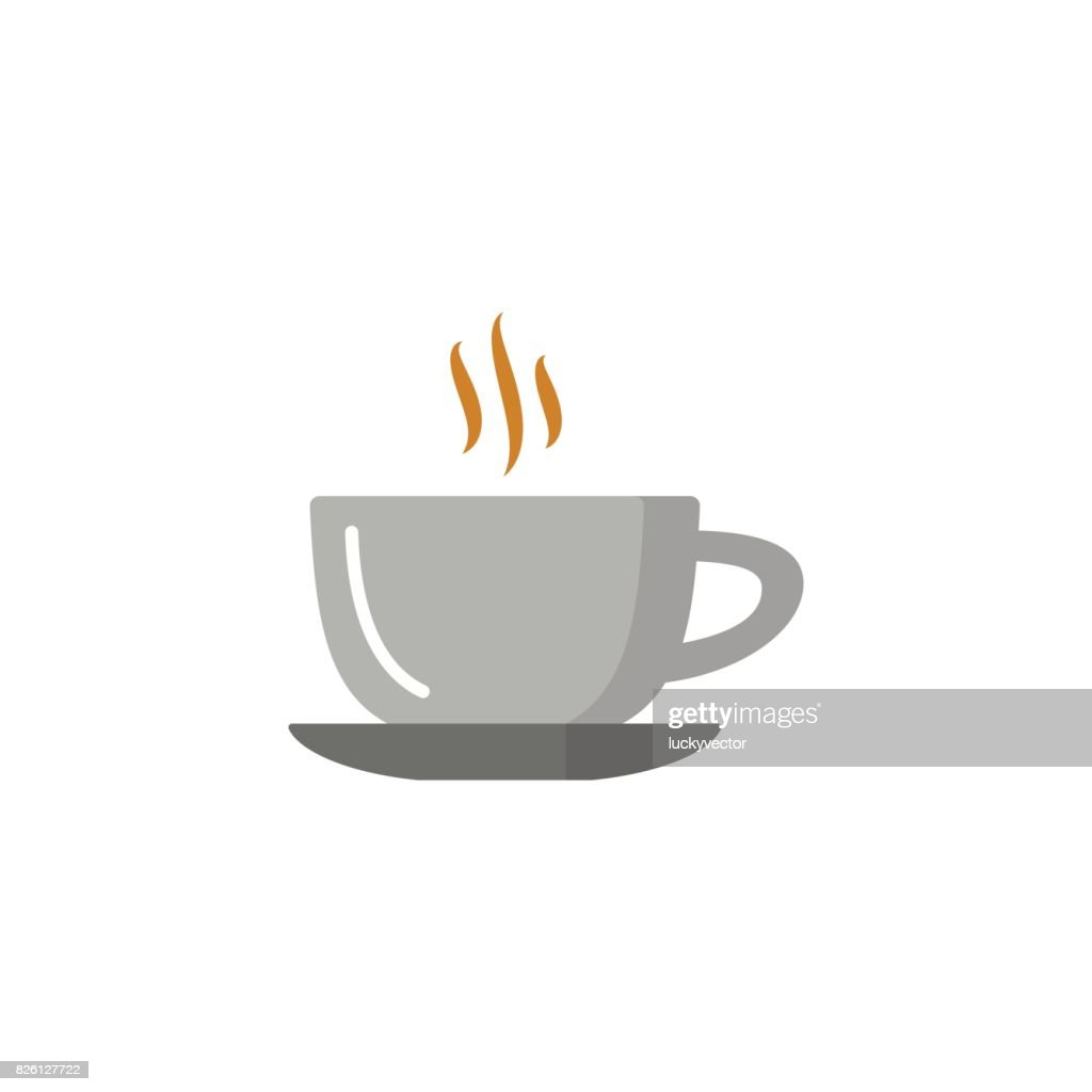Coffee cup and Tea cup flat icon.