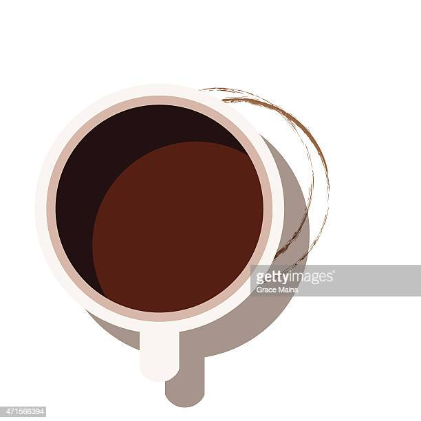 Coffee cup from above - VECTOR