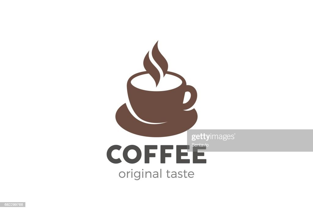 Coffee cup icon design vector template. Cafe symbol icon