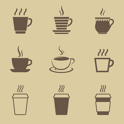Coffee cup icon set - gettyimageskorea