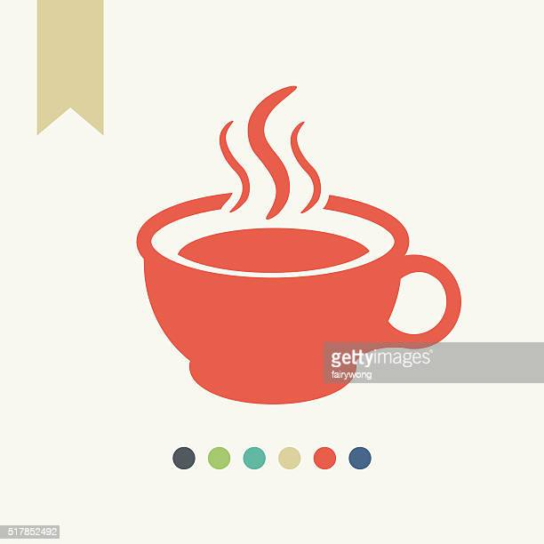 coffee cup icon - caffeine stock illustrations, clip art, cartoons, & icons