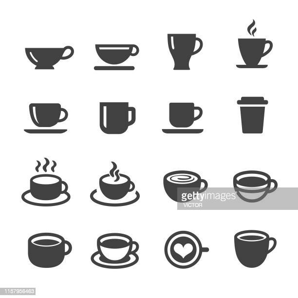 coffee cup icons - acme series - coffee drink stock illustrations