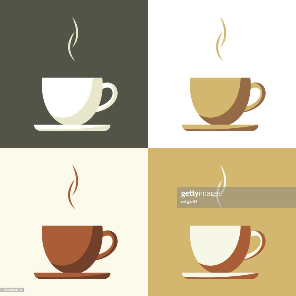 Coffee cup set  icon
