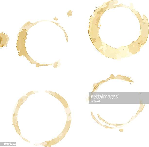 coffee cup stains - looking down stock illustrations, clip art, cartoons, & icons