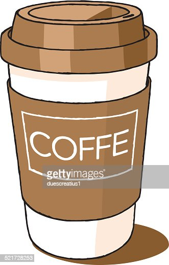 coffee cup take away vector art getty images. Black Bedroom Furniture Sets. Home Design Ideas