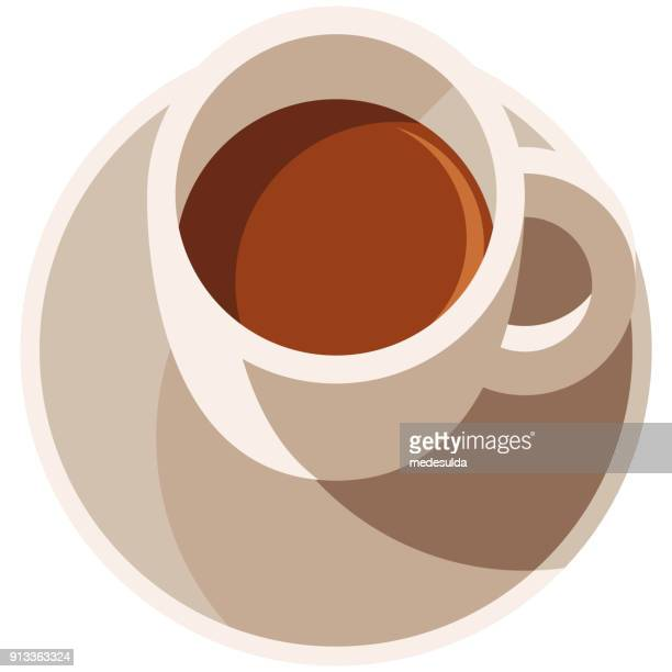 coffee cup vector flat drink - coffee drink stock illustrations