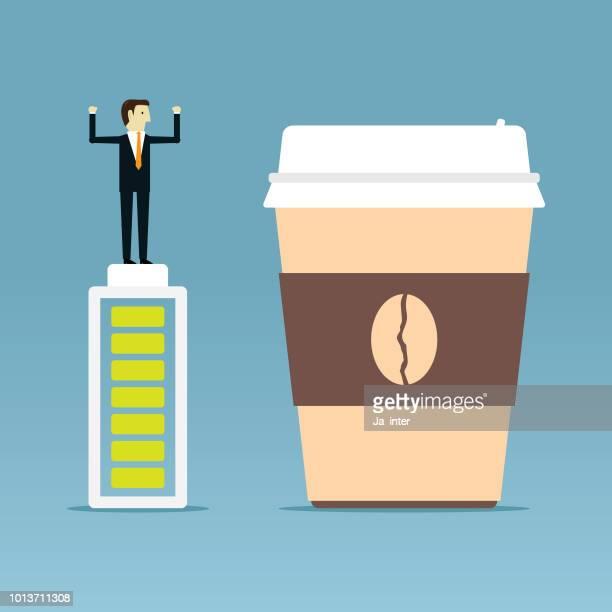 coffee cup - caffeine stock illustrations, clip art, cartoons, & icons