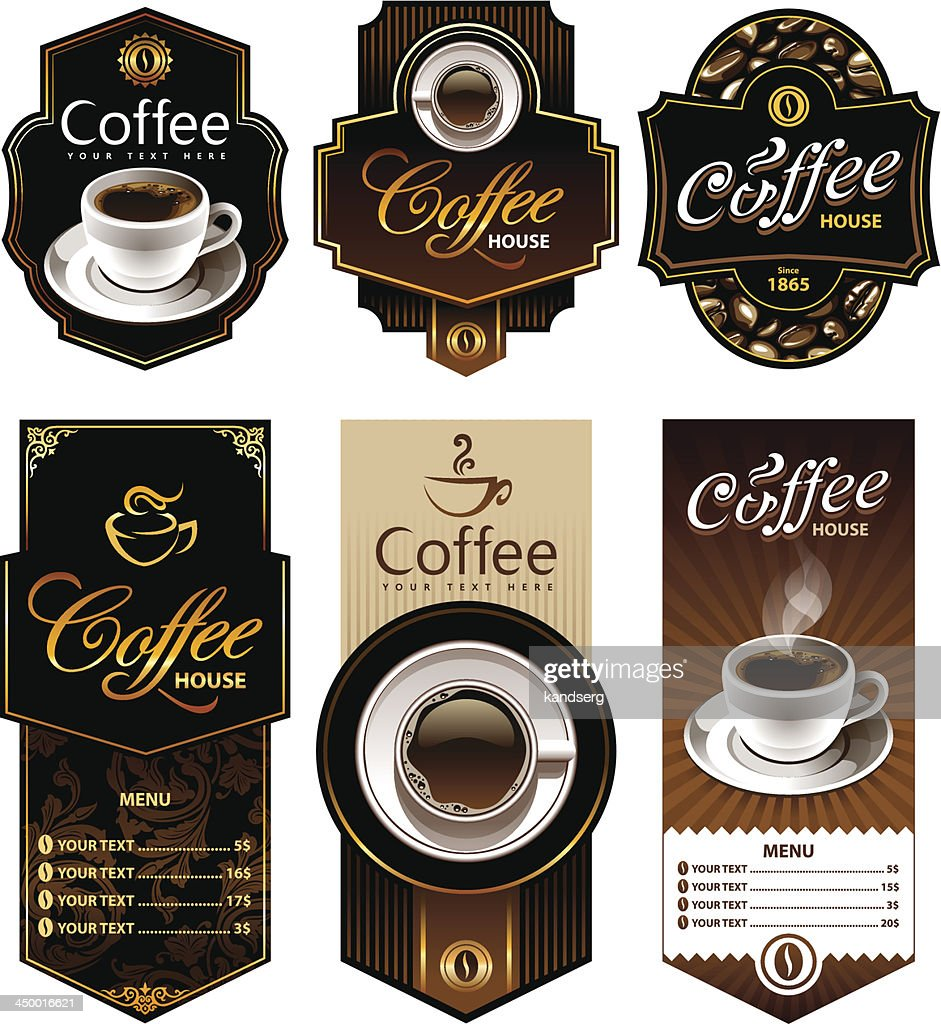 Coffee design banners