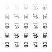 Coffee Drip Icons - Multi Line Series