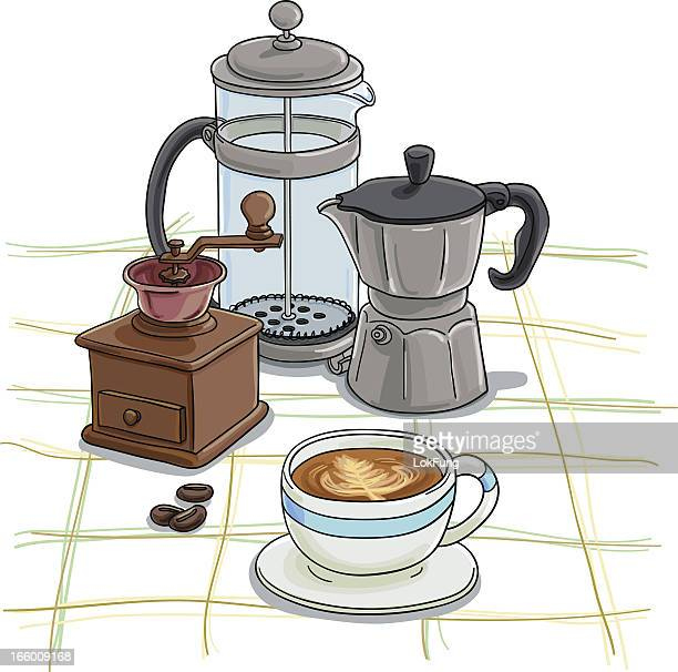 Coffee equipment in colour